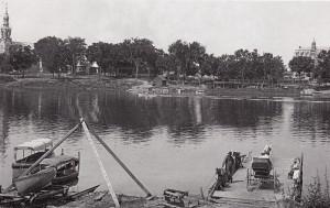 Bac pour traverser la rivière Richelieu au bout de la rue St-Henri.