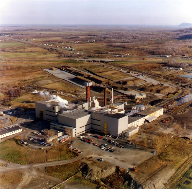 Raffinerie vue aérienne