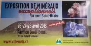 Panneau publicitaire Expo minéraux (2)